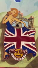 Hard Rock Cafe LONDON 2015 Landmark & Flag SEXY GIRL Series PIN on CARD LE 400!