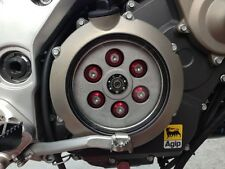 Aprilia Dorsoduro 750 Clutch Cover Kit 08-12 (Red & Sliver) Stainless Steel