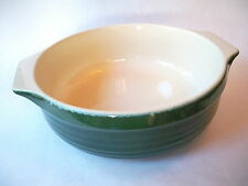 "Emile Henry Williams Sonoma 10"" Dark Hunter Green & Tan Baking Dish  Bowl"