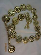 VINTAGE NOS THE LIMITED MADE IN ITALY FANCY STAMPED ROUND CIRCLES LINK BELT