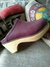 NEW Urban Outfitters BDG Classic Wine Marigold Leather Platform Clog Size 8