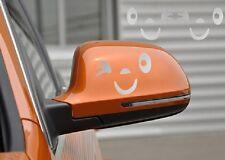 2 stickers auto-collant RETROVISEUR tuning voiture moto SOURIRE SMILE gris clair