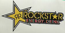 ROCKSTAR ENERGY DRINK YELLOW STICKER DECAL CAR BIKE 220mmx115mm FREE POSTAGE!