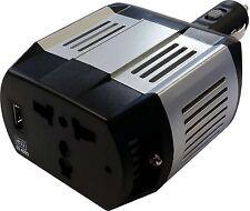 75 Watt 12V Car Inverter Power Supply With USB Port Plugs Into Cigarette Lighter