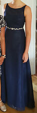 Stunning & Elegant Ladies Navy Formal Dress Size UK10 ideal for a School Prom!