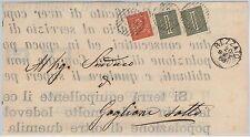 ITALIA REGNO - T14 x 2 + T15  su MANIFESTO - POSTA TRA SINDACI 1888  - Rezzato