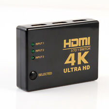 4K 1080P HDMI Video Audio Splitter 3 in 1 Port Hub Switch Switcher For HDTV PS3