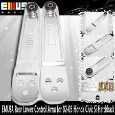 EMUSA SILVER Rear Lower Control Arms for 02-05 Honda Civic Si Hatchback 3D