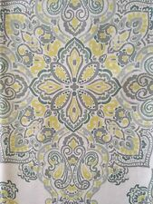 Cynthia Rowley Indoor Outdoor 60x84 Table Cloth   Medallion TealGray,Lime,gray