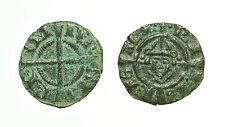 pcc1589_16) BRINDISI Federico II (1197-1250) Denaro con Ritratto 1239  MIR 282
