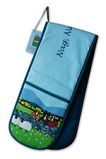Thomas Joseph Nag Nag Nag Double Oven Glove Mitt Sheep Design Cute Fun Gift New