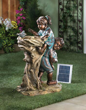 COOL DRINK SOLAR AND ELECTRIC CHILDREN WATER FOUNTAIN GARDEN YARD DECOR~10016356