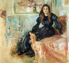 A3 Box Canvas Julie Manet and her greyhound Laertes by Morisot