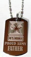 United States Military Proud Army Father Dog Tag Metal Chain Necklace Jewelry