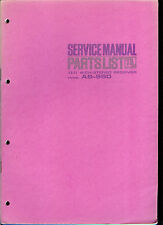 Orig Factory Akai AS 960 AM FM Stereo Receiver Service Manual Parts List Combo