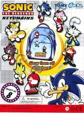 SEGA TOMY SONIC THE HEDGEHOG LASER CUT MASCOT KEYCHAIN CHARM 8PC COMPLETE SET