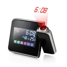 Projection Digital Weather LCD Snooze Alarm Clock Color Display AC