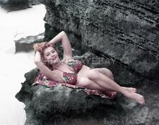 Sexy RHONDA FLEMING 1953 8x10 DBW Photo Embossed by MILTON GREENE GR4