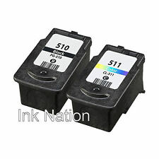 1x PG-510 Black & CL-511 Colour Ink Cartridge For Canon PIXMA MP250 Inkjet