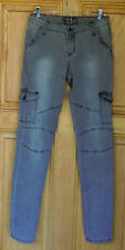 Cello Jeans Ladies Size 11 Mid Rise Skinny Gray Jeans
