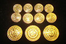 BLAZER    GOLD   METAL  BUTTONS   ONE  SET  PERFECT  FOR  JACKET  SUIT  COAT
