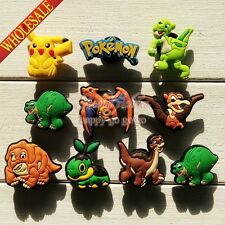 100pcs Pokemon Pikachu Dinosaur PVC Shoe Charms Accessories Fit Jibz Shoes 064A