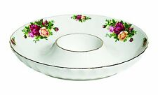 Royal Albert Old Country Roses One Piece Chip and Dip, 12-Inch NEW