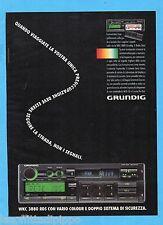 QUATTROR992-PUBBLICITA'/ADVERTISING-1992- GRUNDIG - WKC 3880 RDS