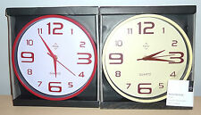 Premier Housewares Red or Cream wall clock