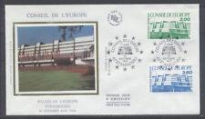 FRANCE FDC - S96 97 1 CONSEIL DE L'EUROPE - STRASBOURG 10 Oct 1987-LUXE sur soie