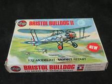 Vintage Airfix 1/72 Bristol Bulldog II RAF biplano Fighter Unmade En Caja Tipo 5