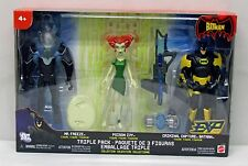 The Batman Animted Series 3 Pack Mr Freeze Batman Poison Ivy Mattel NIP S141-12