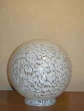 GLOBE VERRE BLANC MOUCHETé 15 cm Ø à colerette pour LAMPE ART DéCO 1930 50