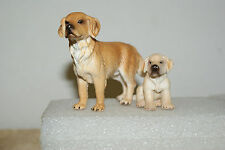 Labrador Adult Male and Puppy by Schleich Animal Figure 2003