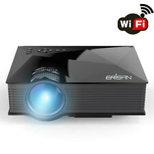 "Full Color Max 130"" WiFi 3D HD 1080P Projector Games Cinema Portable Mini LED"