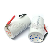 6 pcs SubC Sub C 2800mAh 1.2V NiCd Rechargeable Battery Cell with Tab White