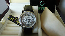 GEVRIL GV2 LEFT-HANDED QUARTZ MOON PHASE LIMITED EDITION 2603 Mens Watch