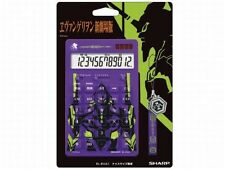"R86-082 Evangelion Sharp 12 digit Electronic Calculator ""Eva Unit 01"" + Strap"