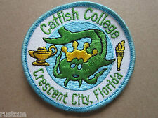 Catfish College BSA Woven Cloth Patch Badge Boy Scouts Scouting