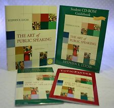 The Art of Public Speaking Lucas Learning System Text Guide Book CD Topic Finder