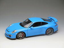 NEW 1/18 Minichamps diecast Porsche 911 991 GT3 Open close car model Rivera blue