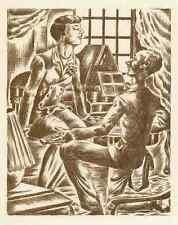 Die ANGEBETETE - Patrick de MANCEAU - OriginalRadierung 1949