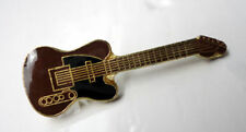 ZP121 Classic Brown Electric Guitar pin Badge Country Rockabilly Blues Rock
