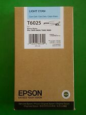 03-2012 NIB GENUINE EPSON T6025 LIGHT CYAN K3 INK PRO 7800 9800 7880 9880