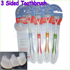 1x 3-Sided Toothbrush ultrafine soft-bristle adult toothbrush  for adults