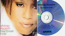 WHITNEY HOUSTON CD Heartbreak Hotel UK 3 Track DJ ONLY PROMO Acetete Radio Edits