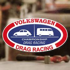 """Volkswagen Drag Racing sticker decal vw beetle bus van bug aircooled 6"""""""