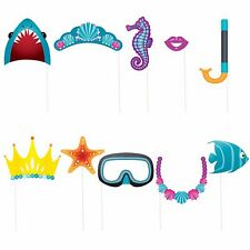 10 x Assorted Sea Creatures Under The Sea Ocean Photo Booth Props Decoration
