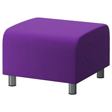 Purple Cotton Custom Slip Cover for Ikea Klippan Footstool Sofa Cover Foot Stool