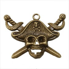 20pcs 140382 Pirate Skull Charms Bronze Alloy Pendant 44x34mm Jewelry Findings